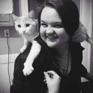 Melanie Karemer with cat