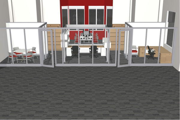 A rough conceptual rendering of the new space.