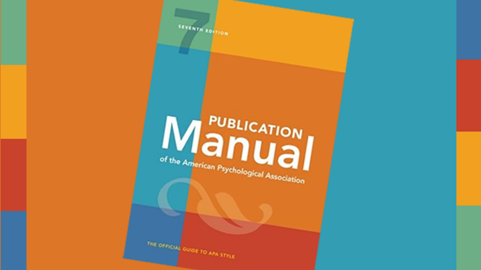Cover of the APA 7th edition Publication Manual