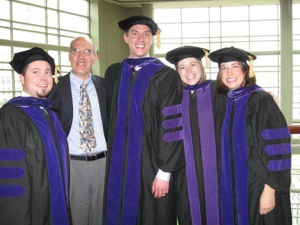Dave Corbett, Professor Hamilton, Andrew Pieper, Erin Collins, and Laura Hammargren.
