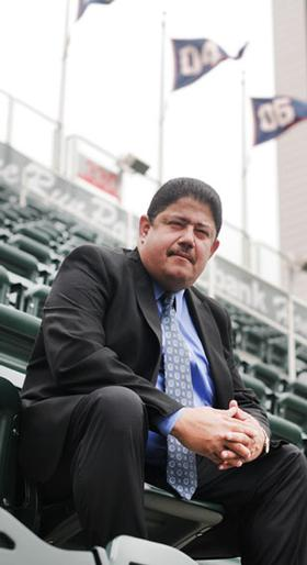 As director of emerging markets for the Minnesota Twins, Miguel Ramos has built bridges between the team and minority communities in the Midwest. Photo by Nancy Kuehn | Minneapolis/St. Paul Business Journal