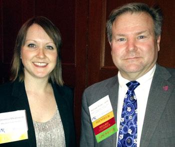 Christina Milanowski with UST MBC program director Mike Porter