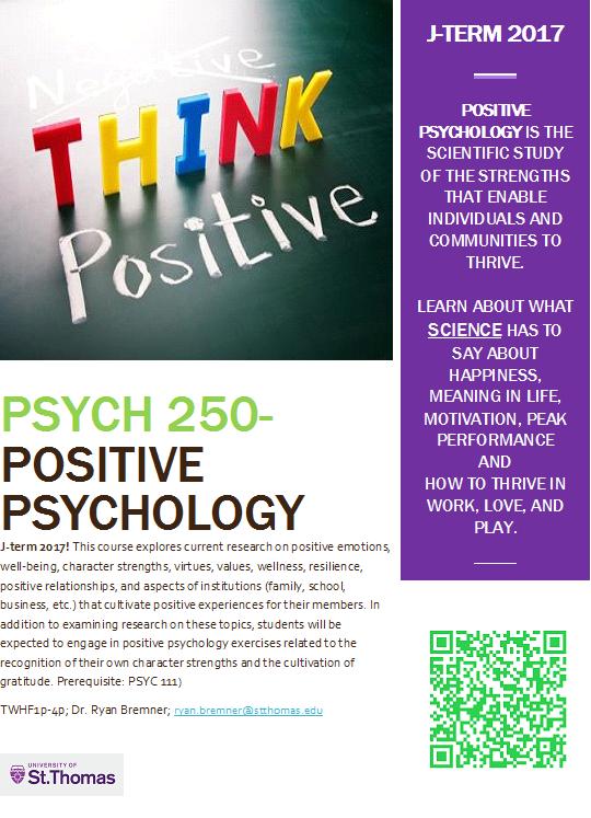 School Psychology Programs >> PSYC250- Positive Psychology Flyer – Psychology ...