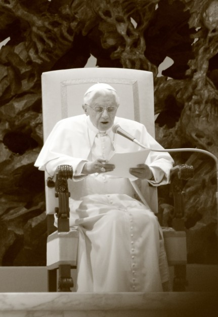 My first time seeing Pope Benedict at a Wednesday Papal Audience.  (Photo credit: Tim Moosbrugger)