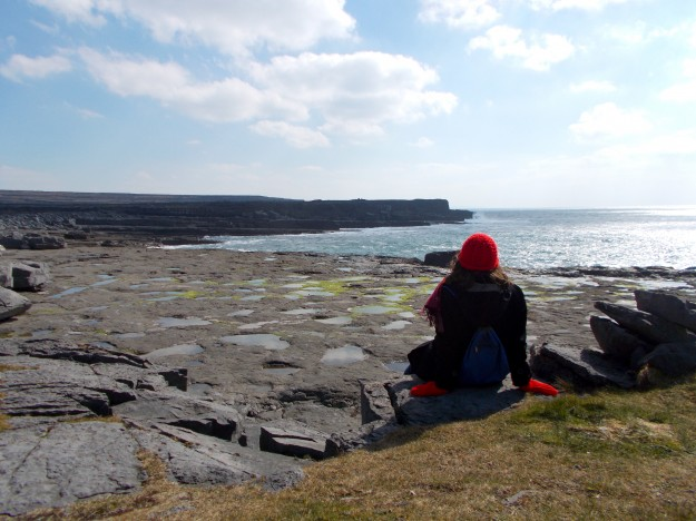 Looking off of Inis Mór, out at the Atlantic.  Funnily enough, I've seen the very different other side of it in Puerto Rico.  Both are beautiful, but I'm partial to Ireland's actually.