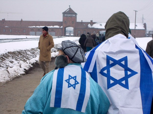 A group of Jewish visitors were at Birkenau when we were.  I can't imagine what they were thinking.