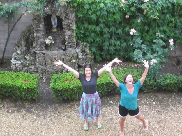 Grace like rain: rain-dancing in Bernardi's courtyard.