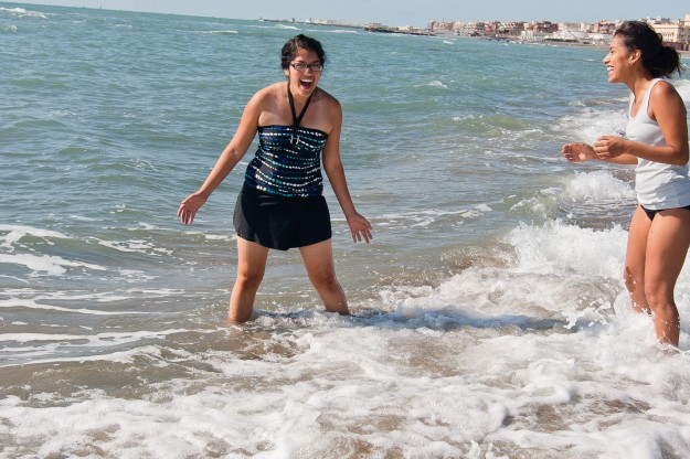And of course, one of the best things to do at the beach is just wade in the waves.