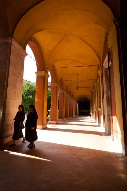 We have really cool hallways (often complete with sisters walking through).