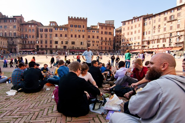 This is from our picnic lunch in Piazza del Campo in Siena, where Fr. Carola and the rest of the chaplaincy took us on a day trip.