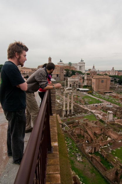 This is the view of the Forum from the top of the Palatine Hill.  It was amazing!