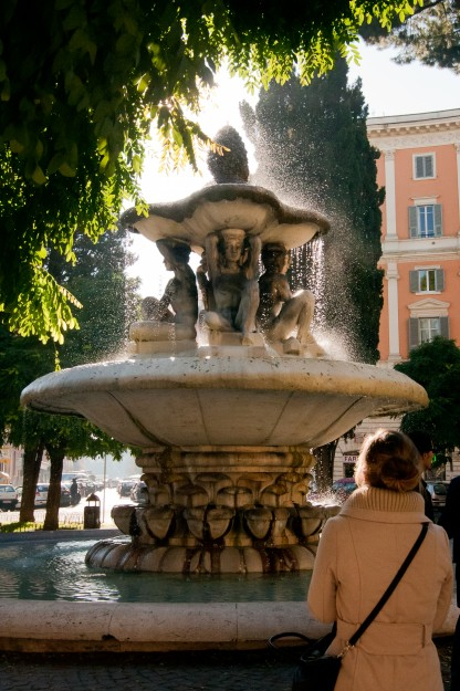 This is just a random fountain we stumbled upon walking to the Vatican one day.