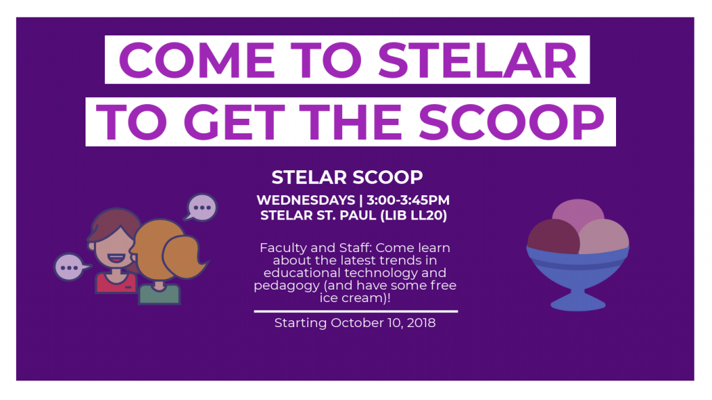 Flyer about the STELAR Scoop Events
