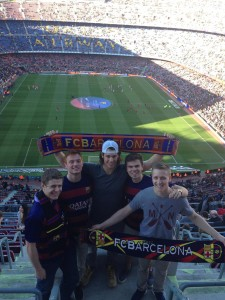 Enjoying the Barcelona game