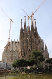 An exterior view of La Sagrada Familia