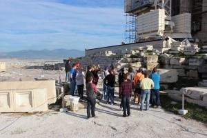 Touring around the Acropolis