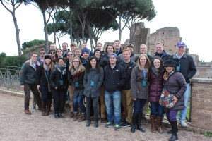 Our group on top of Palatine Hill