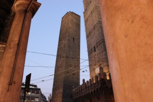 The leaning tower in Bologna