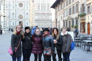 Dr. Shakiban and some of us girls in Florence