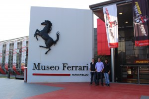 Some of the guys outside the Ferrari museum